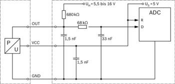 Czujnik, ciśnienie doładowania BOSCH 8